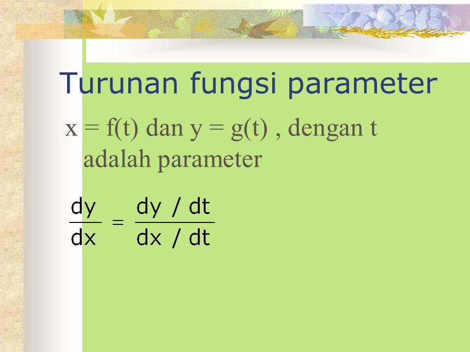 2. Jika pada F(x,y) = 0 mengandung suku h(y), maka : 3. Jika pada F(x,y) = 0 mengandung suku u(x) dan v(y), maka :
