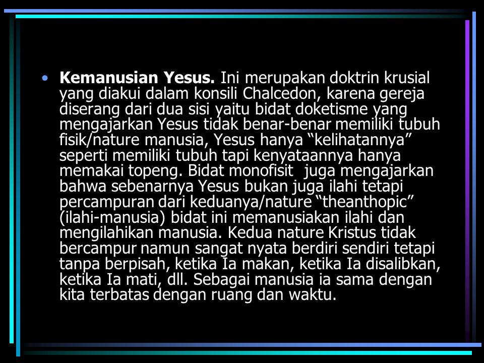 Kemanusian Yesus.