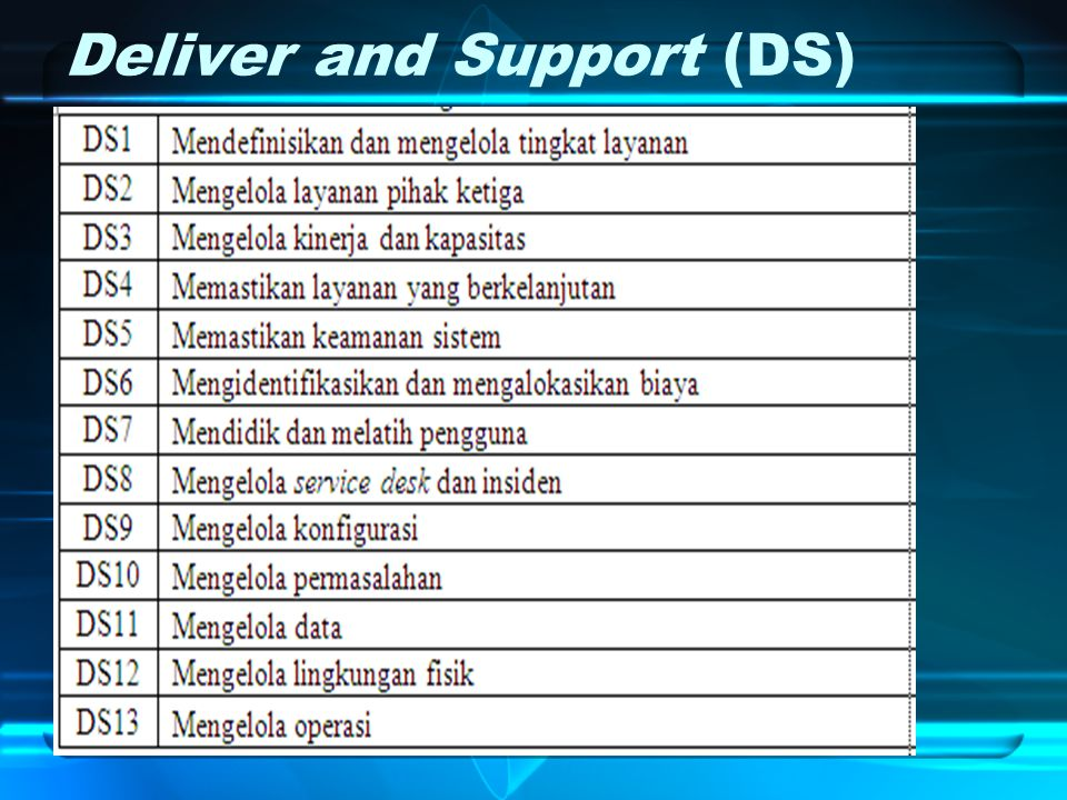 Deliver and Support (DS)