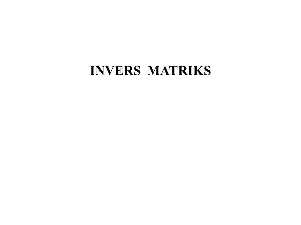 INVERS MATRIKS