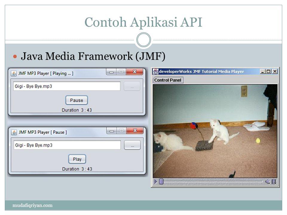 Contoh Aplikasi API Java Media Framework (JMF) mudafiqriyan.com