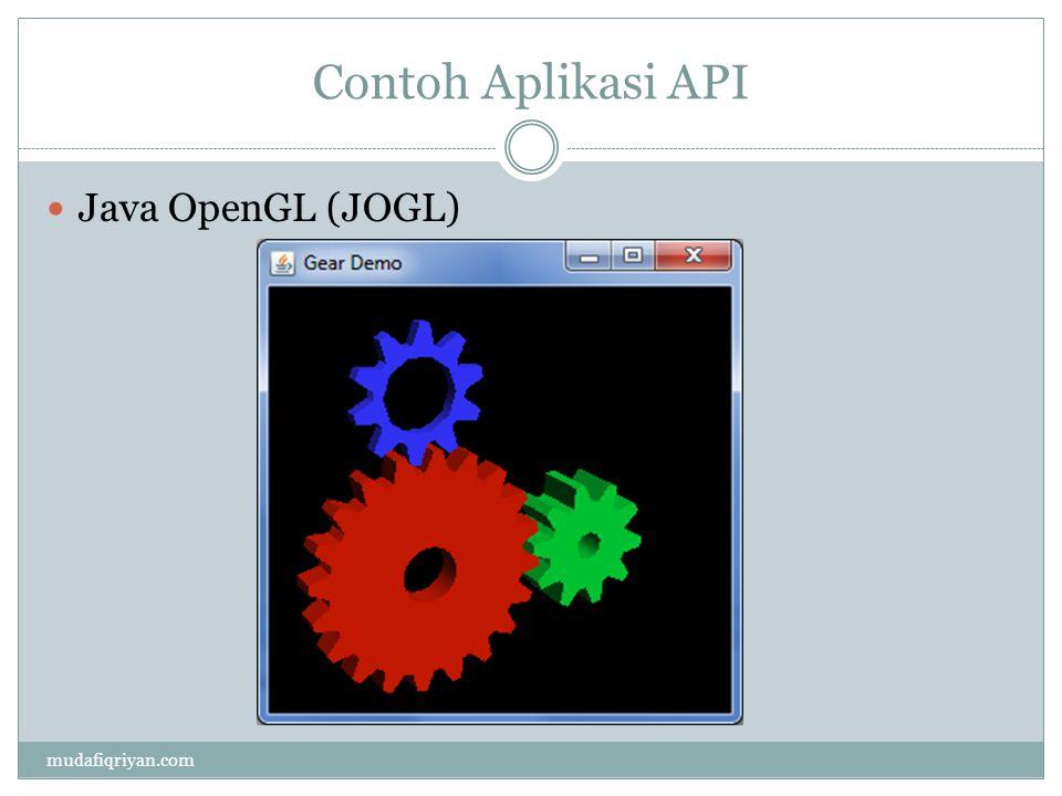 Contoh Aplikasi API mudafiqriyan.com Java OpenGL (JOGL)
