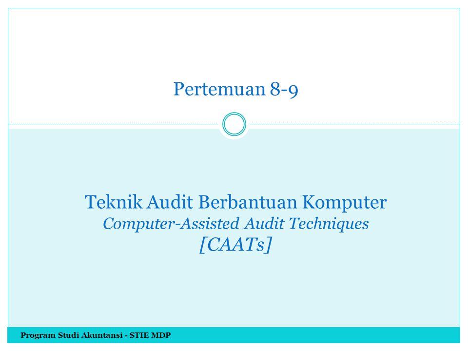 Keunggulan & Kelemahan Tracing Keunggulan Tracing Memungkinkan bagi auditor mengindentifikasi apakah instruksi tertentu/ langkah-langkah pemrosesan suatu aplikasi komputer telah dijalankan selama memproses transaksi tersebut.