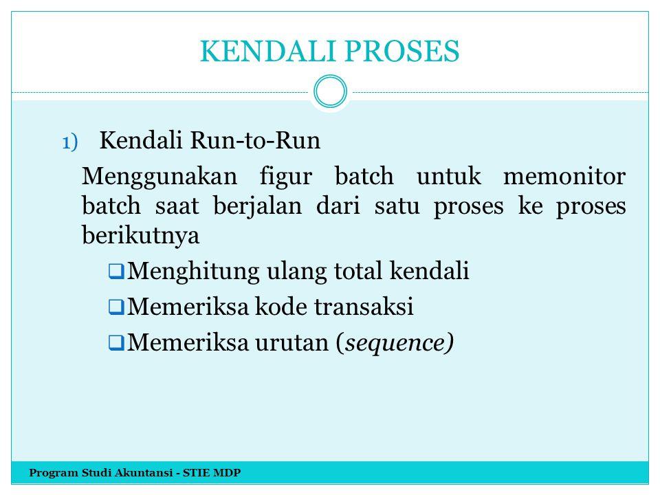 KENDALI PROSES 1) Kendali Run-to-Run Menggunakan figur batch untuk memonitor batch saat berjalan dari satu proses ke proses berikutnya  Menghitung ul