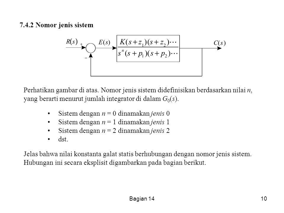 Bagian 1410 7.4.2 Nomor jenis sistem Perhatikan gambar di atas. Nomor jenis sistem didefinisikan berdasarkan nilai n, yang berarti menurut jumlah inte