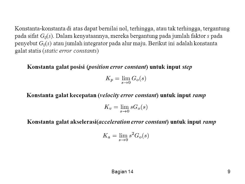 Bagian 149 Konstanta-konstanta di atas dapat bernilai nol, terhingga, atau tak terhingga, tergantung pada sifat G 0 (s). Dalam kenyataannya, mereka be