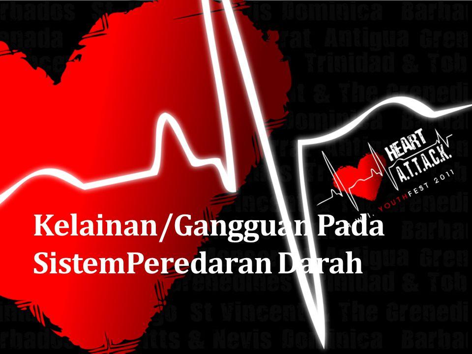 Tujuan Pembelajaran Mendeskripsikan berbagai kelainan/penyakit pada sistem peredaran darah Menjelaskan penyebab penyakit yang terjadi pada sistem peredaran darah Mendeskripsikan gejala yang timbul akibat penyakit yang terjadi pada sistem peredaran darah Menjelaskan upaya menghindari/rehabilitasi kelainan/penyakit pada sistem peredaran darah