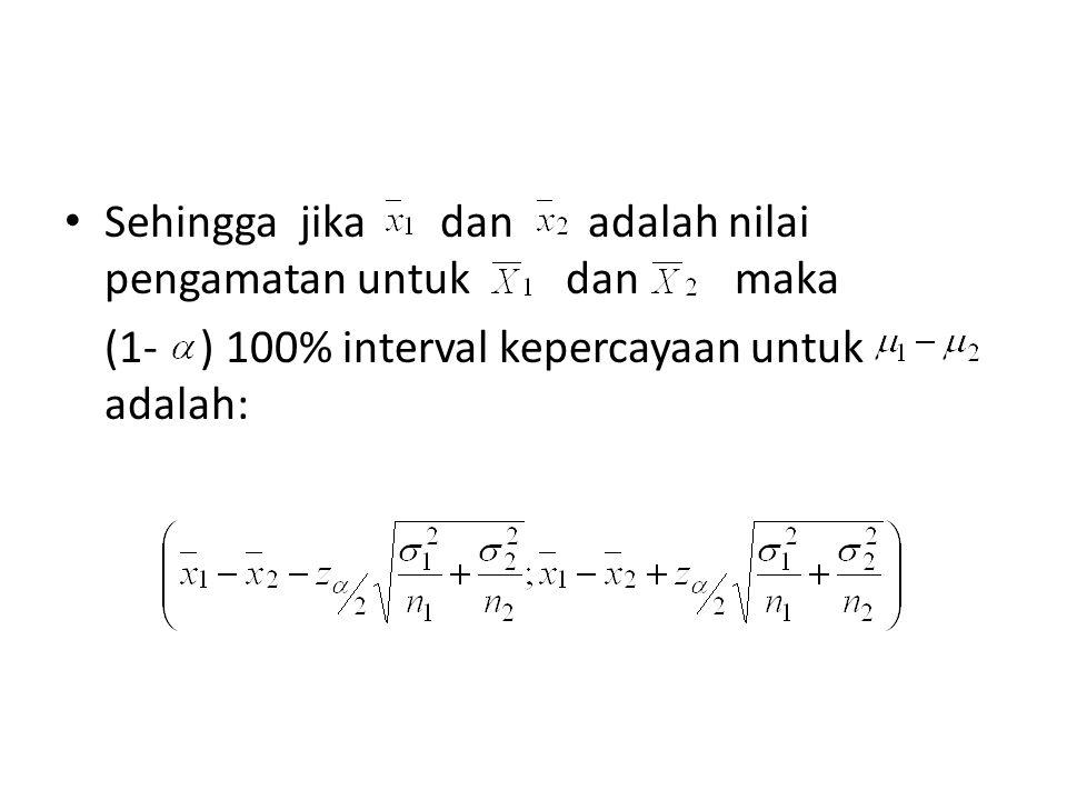 Berdistribusi pendekatan normal dengan mean dan variansi: dan Sehingga mendekati N(0,1) dimana