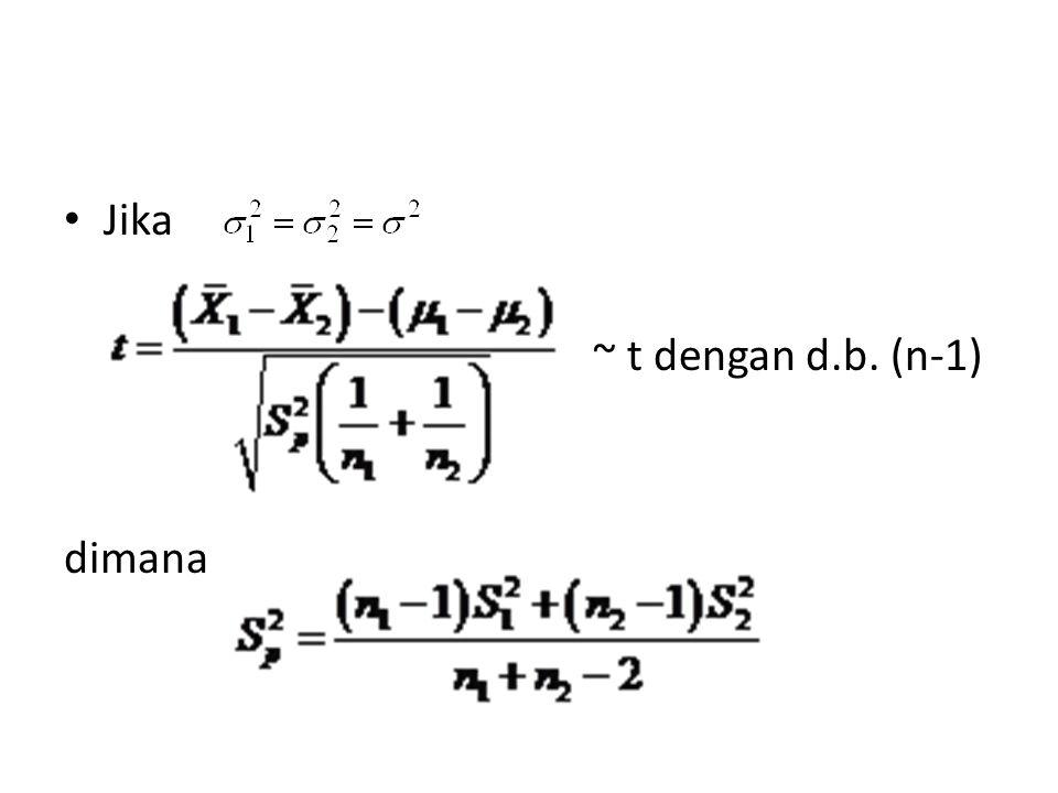 Contoh: Suatu penelitian dilakukan untuk melihat proporsi mahasiswa UI yang berasal dari luar Jakarta.