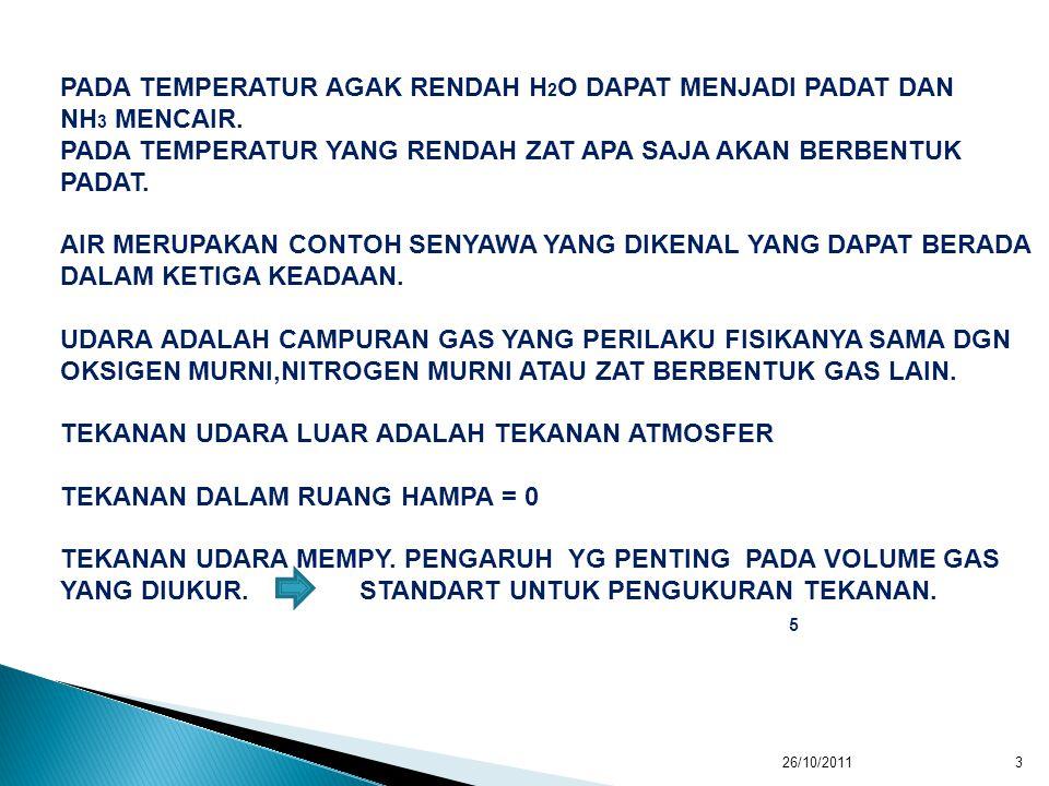 PADA TEMPERATUR AGAK RENDAH H 2 O DAPAT MENJADI PADAT DAN NH 3 MENCAIR.