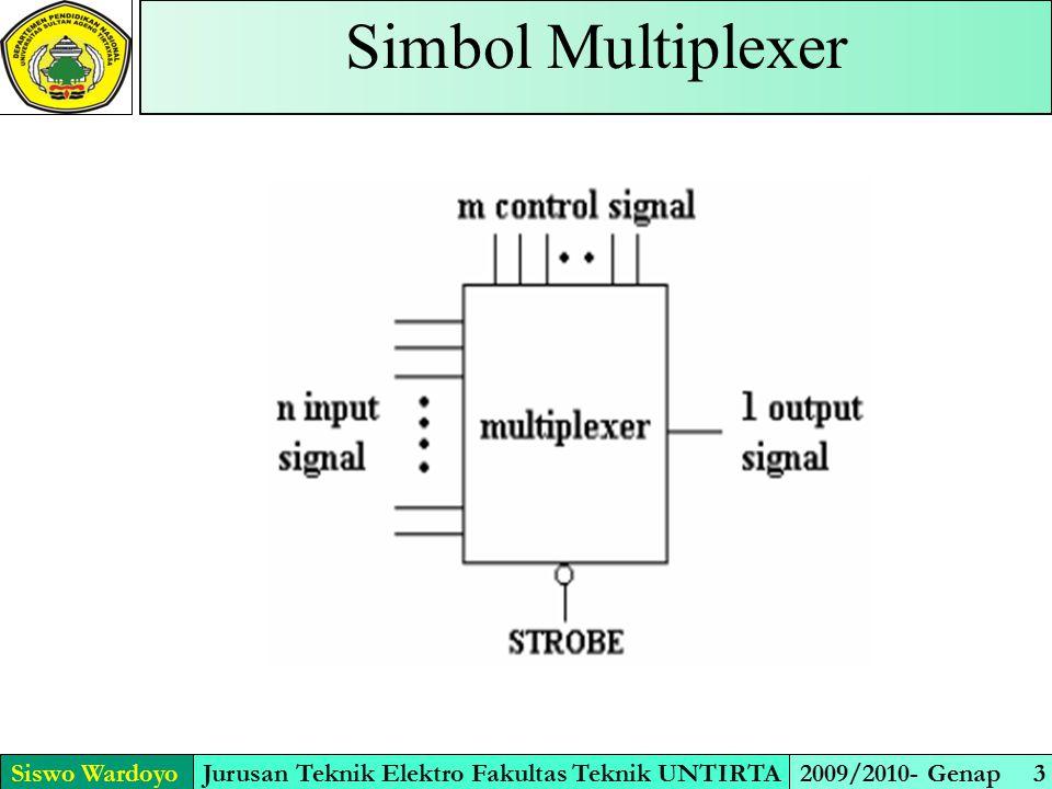 Prinsip Kerja Multiplexer Siswo WardoyoJurusan Teknik Elektro Fakultas Teknik UNTIRTA2009/2010- Genap 4