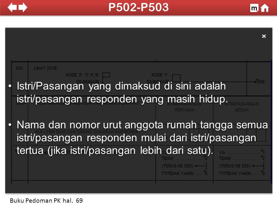 Kita tidak menanyakan apakah responden menginginkan anak yang sedang dikandung oleh istri/pasangannya 100% SDKI 2012 P504-P505A m Buku Pedoman PK hal.