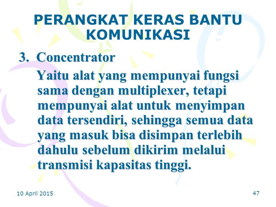 10 April 2015 47 PERANGKAT KERAS BANTU KOMUNIKASI 3.