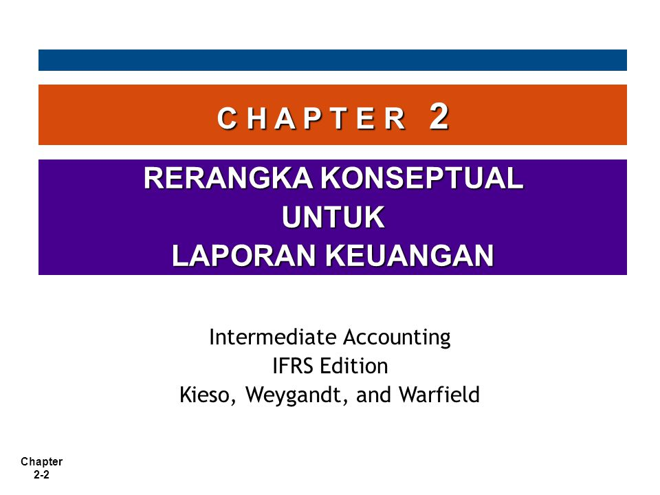 Chapter 2-3 Rerangka Konseptual Perlunya rerangka konseptual Untuk mengembangkan serangkaian standar dan aturan yang koheren Untuk mengembangkan serangkaian standar dan aturan yang koheren Untuk menyelesaikan berbagai persoalan praktis baik yang baru maupun sedang terjadi Untuk menyelesaikan berbagai persoalan praktis baik yang baru maupun sedang terjadi
