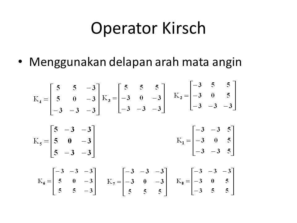 Operator Kirsch Menggunakan delapan arah mata angin