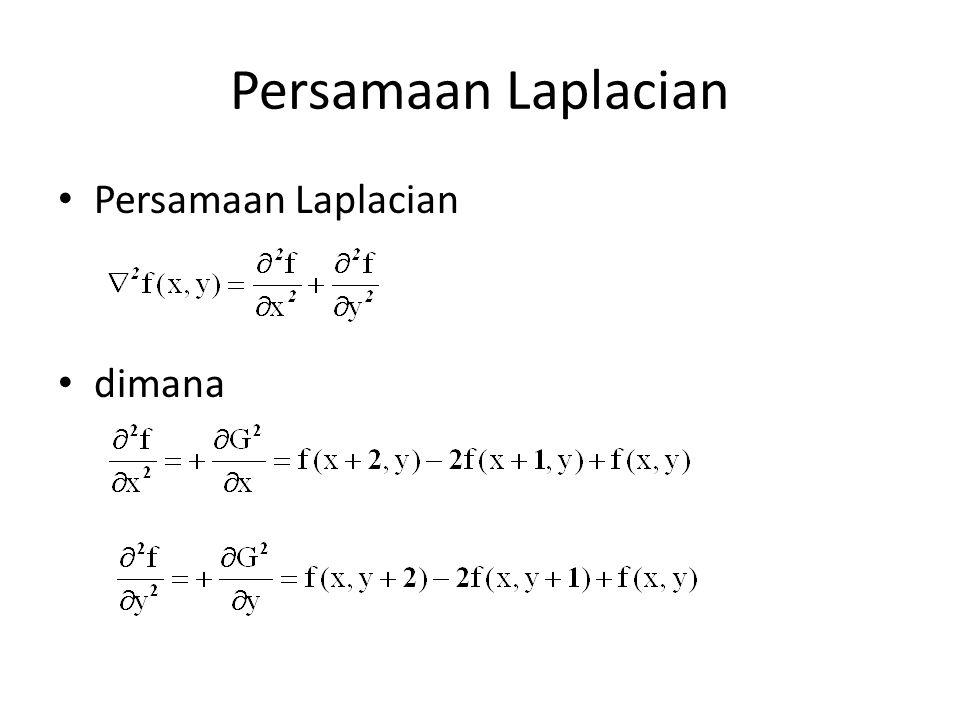 Persamaan Laplacian dimana