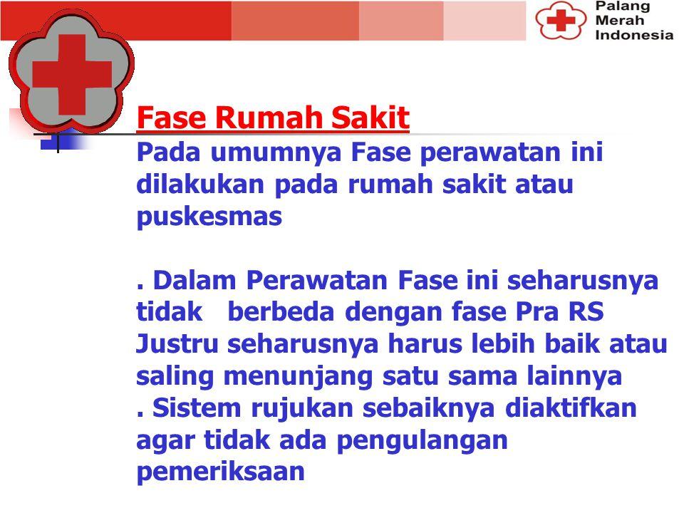 Fase Rumah Sakit Pada umumnya Fase perawatan ini dilakukan pada rumah sakit atau puskesmas. Dalam Perawatan Fase ini seharusnya tidak berbeda dengan f