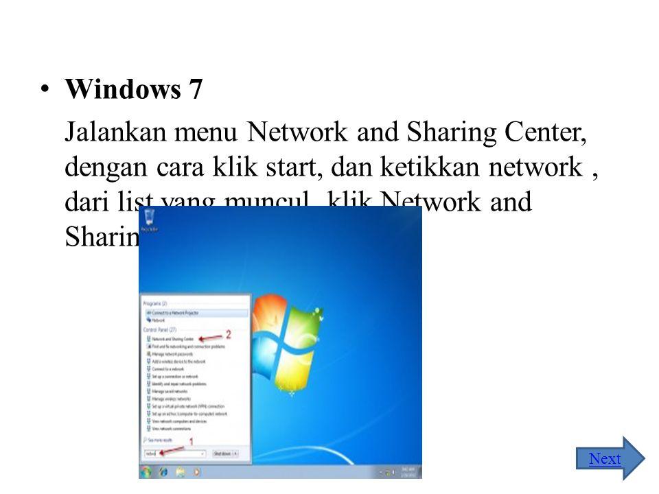 Perhatikan gambar di bawah ini, jika muncul tampilan seperti pada gambar di bawah ini, berarti komputer anda telah terhubung pada jaringan LAN. Home