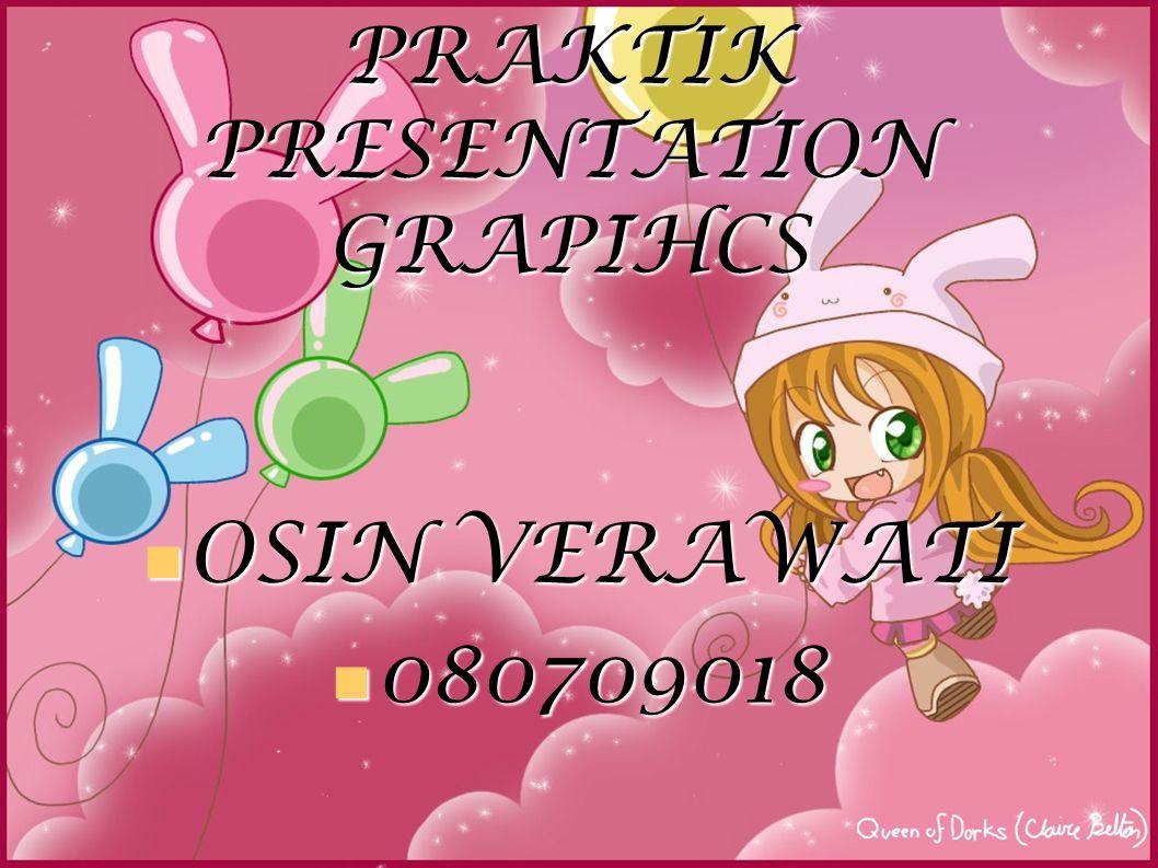 PRAKTIK PRESENTATION GRAPIHCS OSIN VERAWATI OSIN VERAWATI 080709018 080709018