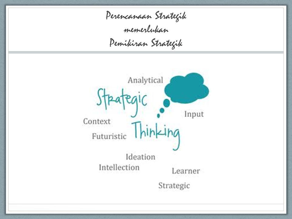 Perencanaan Strategik memerlukan Pemikiran Strategik