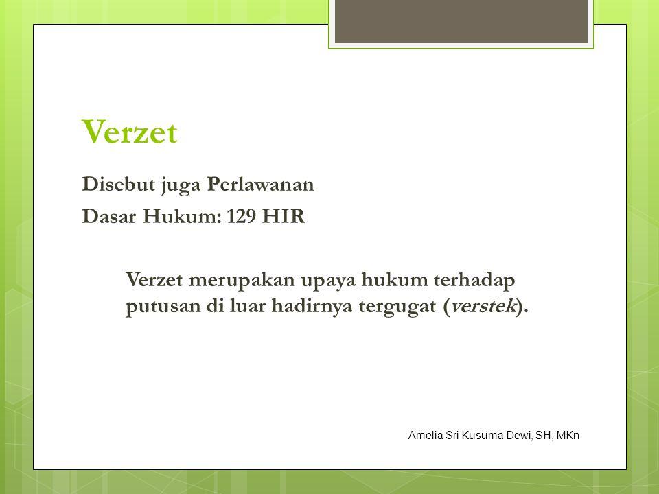 PENINJAUAN KEMBALI Amelia Sri Kusuma Dewi, SH, MKn