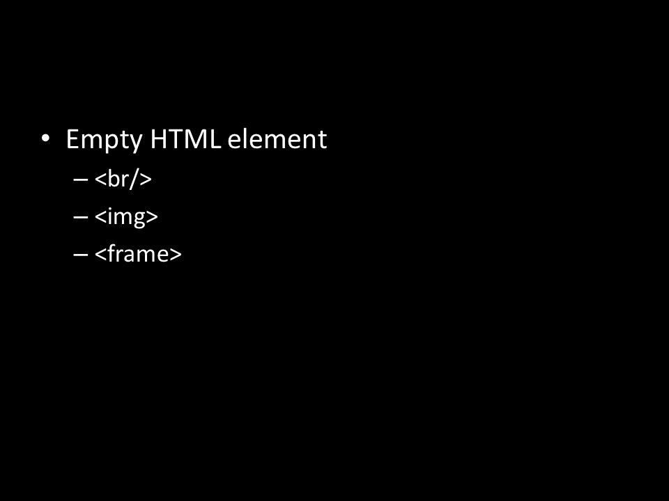 Empty HTML element –