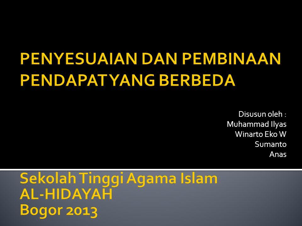 Disusun oleh : Muhammad Ilyas Winarto Eko W Sumanto Anas