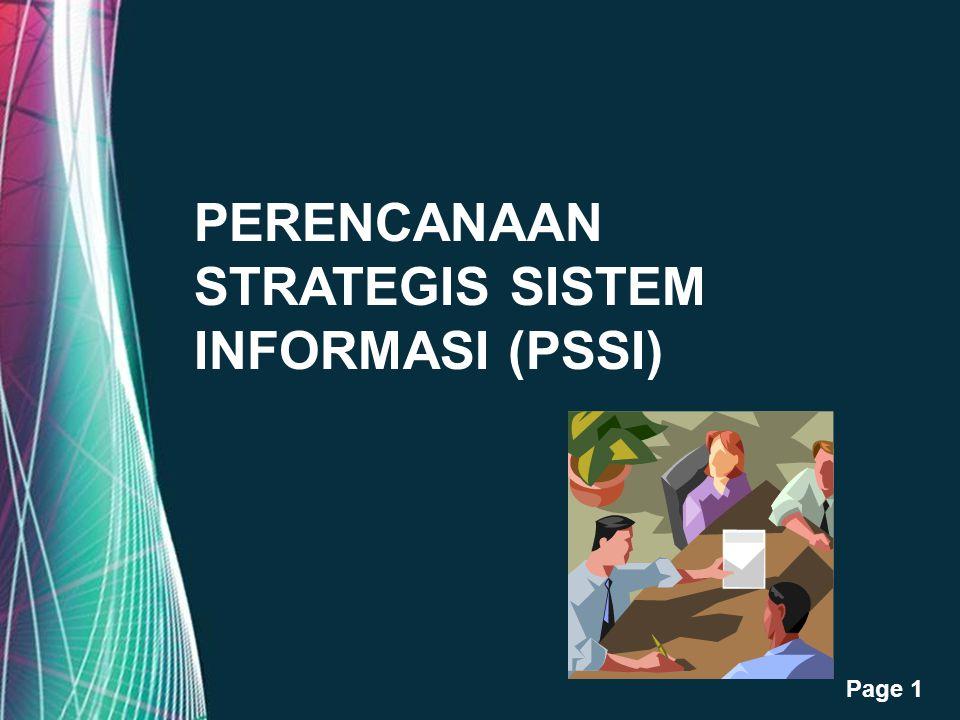 Free Powerpoint Templates Page 1 PERENCANAAN STRATEGIS SISTEM INFORMASI (PSSI)
