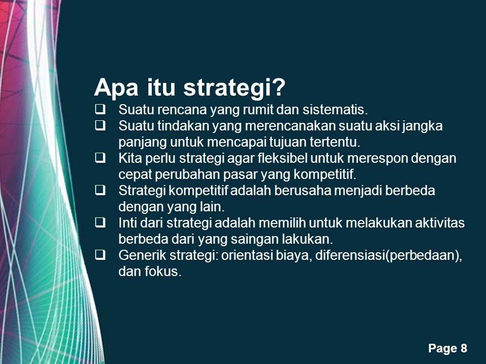 Free Powerpoint Templates Page 9 Apa itu strategis.