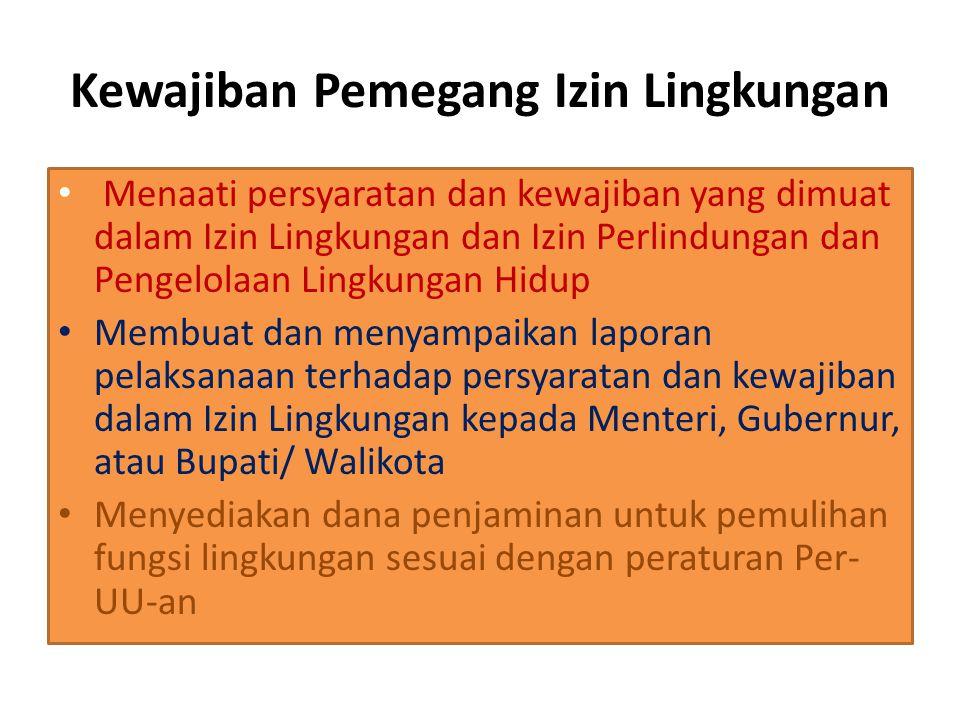 UKL UPL Kegitan tdk wajib Amdal Kewajiban Penanggung Jawab Dokumen Rencana usaha Dampak Lingkungan yg akan terjadi Program K & P LH