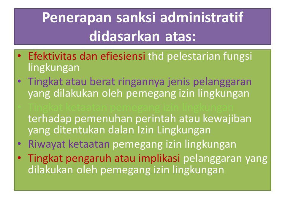 Perizinan PPLH Perizinan lingkungan dapat diperoleh setelah usaha dan/atau kegiatan beroperasi.