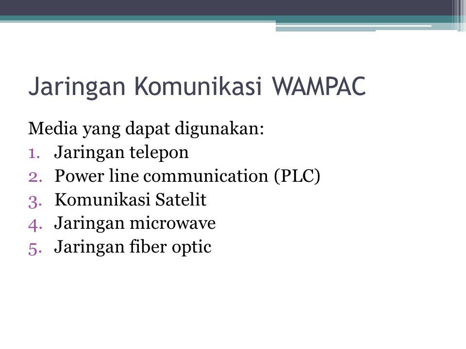 Jaringan Komunikasi WAMPAC Media yang dapat digunakan: 1.Jaringan telepon 2.Power line communication (PLC) 3.Komunikasi Satelit 4.Jaringan microwave 5.Jaringan fiber optic
