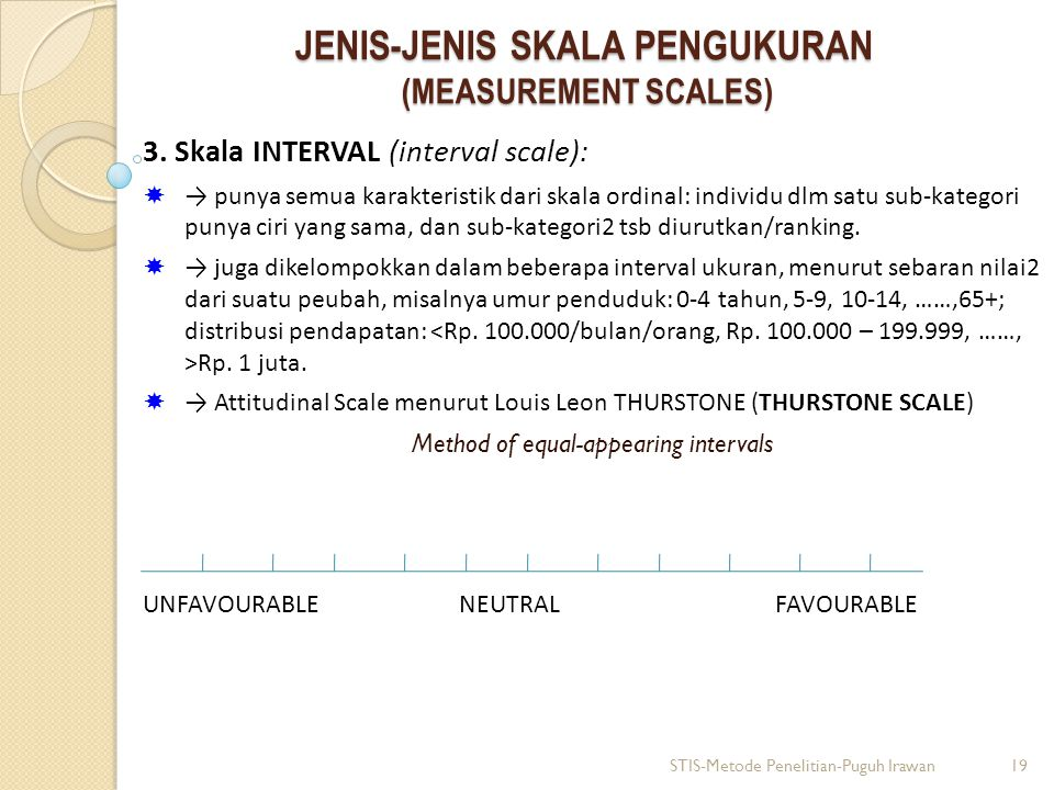 JENIS-JENIS SKALA PENGUKURAN (MEASUREMENT SCALES) 3.