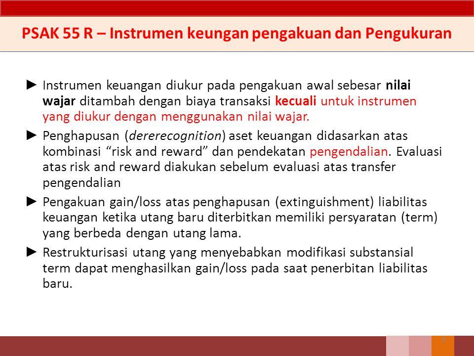 7 Instrumen Keuangan setiap kontrak yang menambah nilai: ► aset keuangan entitas, dan (disisi lain) ► kewajiban keuangan atau instrumen ekuitas entita