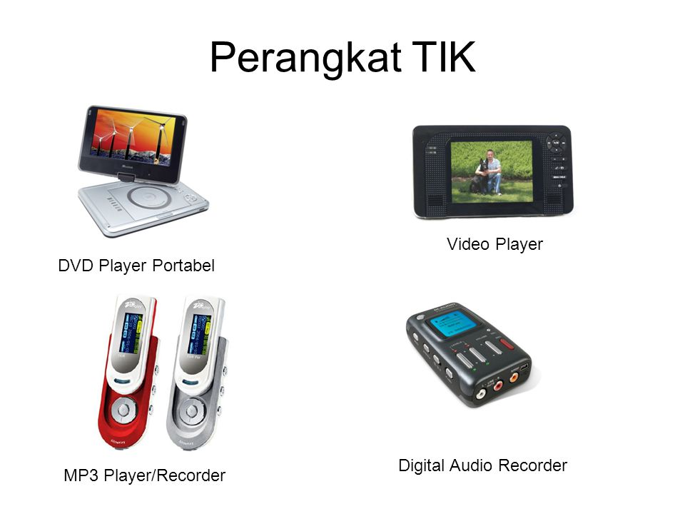 Perangkat TIK DVD Player Portabel MP3 Player/Recorder Video Player Digital Audio Recorder