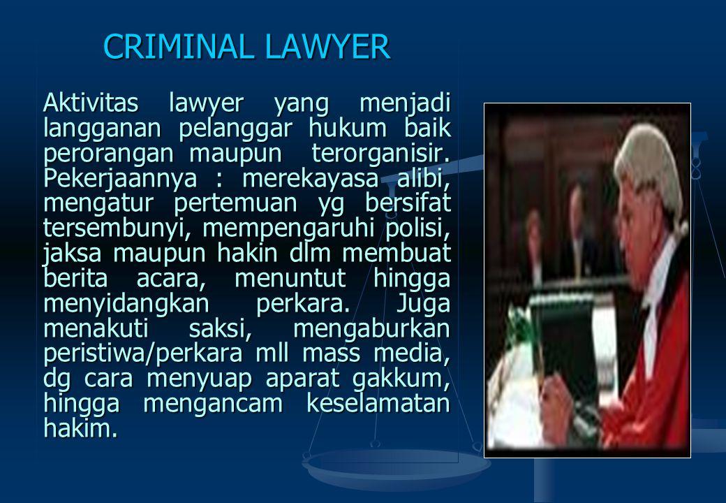 JUDICIAL CRIME Kejahatan yang dilakukan olh aparat penegak hukum dlm konteks jabatan & kekuasaan untuk menetapkan seseorang atau sekelompok orang sala