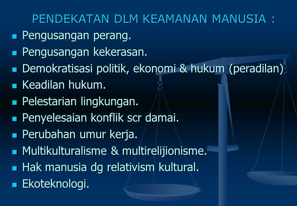 HUMAN SECURITY (Keamanan Manusia) MULTI FASET KEAMANAN MANUSIA : Keamanan kultural & agama. Keamanan kultural & agama. Keamanan harta milik. Keamanan