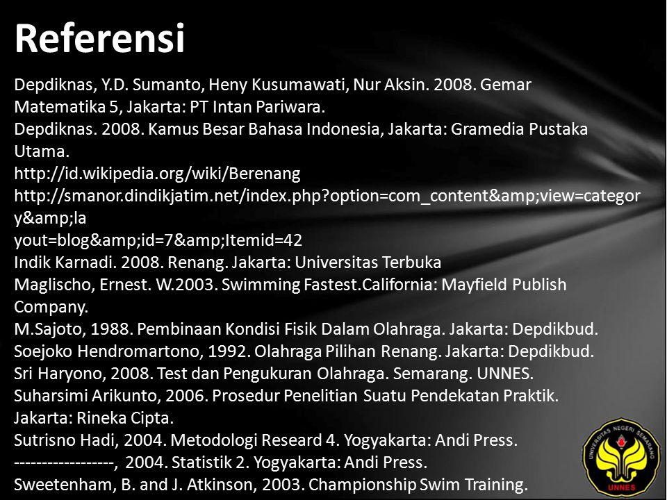 Referensi Depdiknas, Y.D. Sumanto, Heny Kusumawati, Nur Aksin.