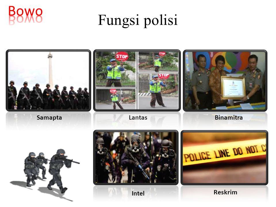 Fungsi polisi SamaptaLantas Binamitra Intel Reskrim