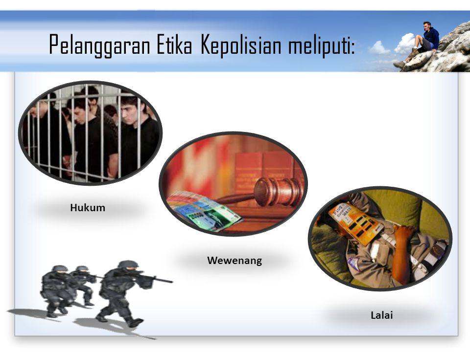 Pelanggaran Etika Kepolisian meliputi: Hukum Wewenang Lalai