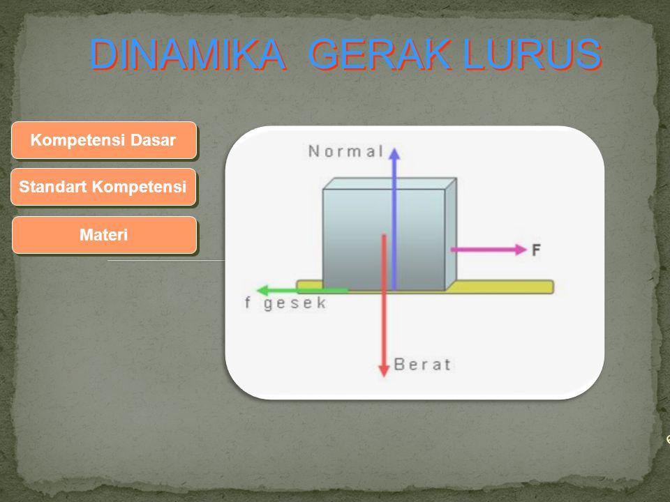 ep Standart Kompetensi Materi Kompetensi Dasar DINAMIKA GERAK LURUS