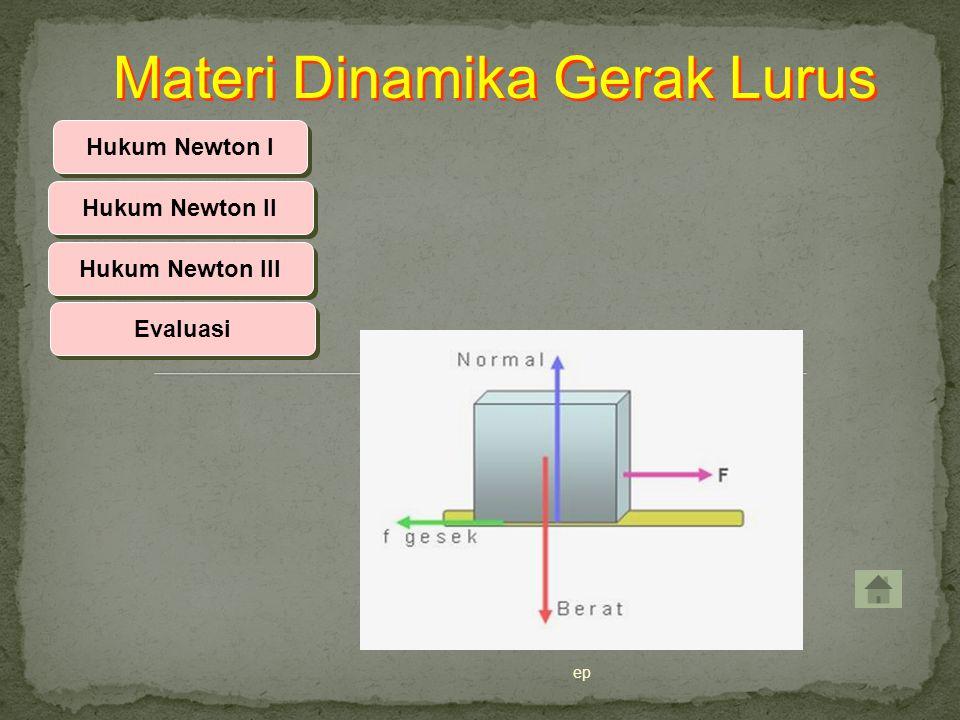 ep Hukum Newton I Hukum Newton II Hukum Newton III Materi Dinamika Gerak Lurus Evaluasi