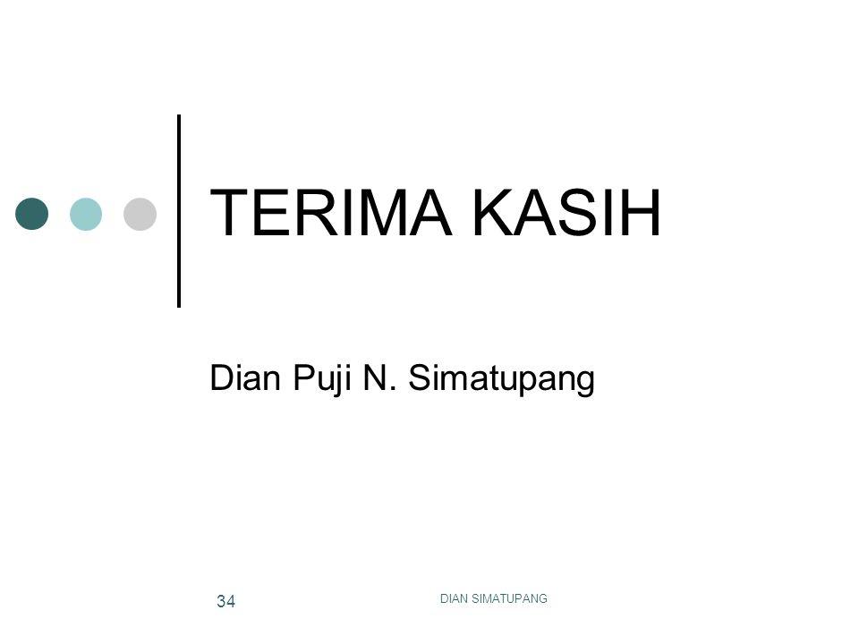 DIAN SIMATUPANG 34 TERIMA KASIH Dian Puji N. Simatupang