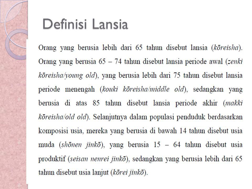 Definisi Lansia
