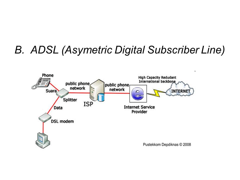 Bandwith maksimum yang didapat apabila kita menggunakan akses internet menggunakan ADSL: a.Untuk line rate 384 kbps, bandwidth maksimum yang didapatkan mendekati 337 kbps.