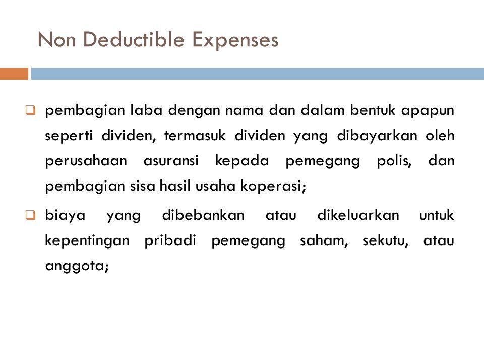Kompensasi Kerugian Apabila penghasilan bruto setelah pengurangan didapat kerugian, maka kerugian tersebut dikompensasikan dengan penghasilan mulai ta