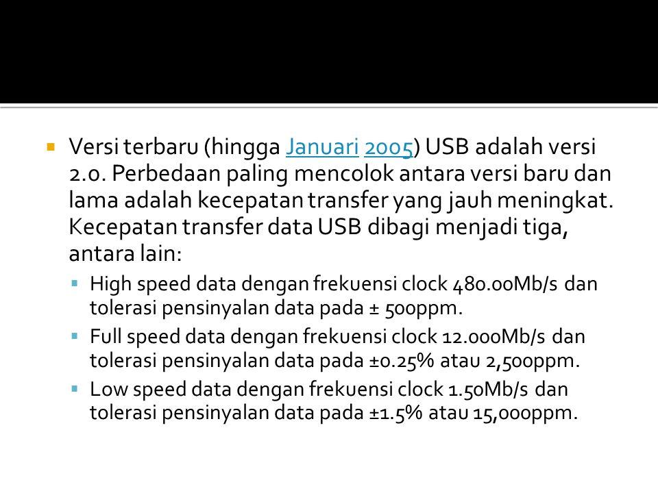  USB adalah host-centric bus di mana host/terminal induk memulai semua transaksi.