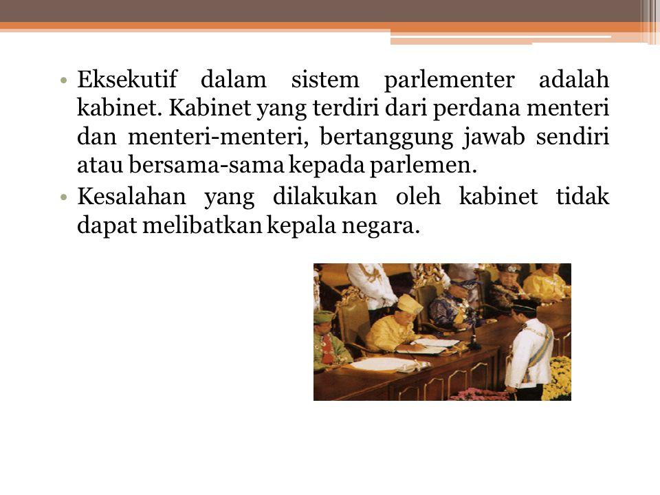 SISTEM PEMERINTAHAN PARLEMENTER Sistem parlementer adalah sebuah sistem permerintahan di mana parlemen memiliki peranan penting dalam pemerintahan. Da