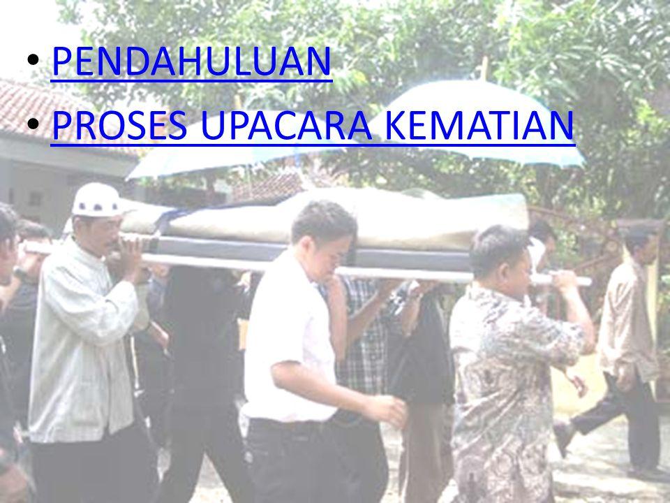 PENDAHULUAN Kematian bagi masyarakat manapun, termasuk masyarakat Banjar yang berada di Kalimantan Selatan, merupakan masalah sosial karena ia tidak hanya melibatkan anggota keluarganya tetapi juga masyarakatnya.