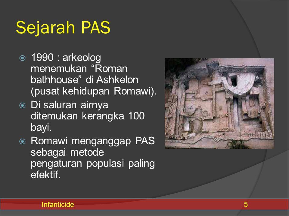 "Sejarah PAS  1990 : arkeolog menemukan ""Roman bathhouse"" di Ashkelon (pusat kehidupan Romawi).  Di saluran airnya ditemukan kerangka 100 bayi.  Rom"